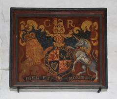 G R 2 royal arms (overpainted Stuart set)