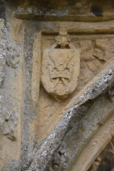south porch: crown and arrows of St Edmund