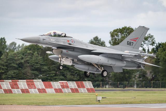 F-16AM RNoAF - RIAT 2019