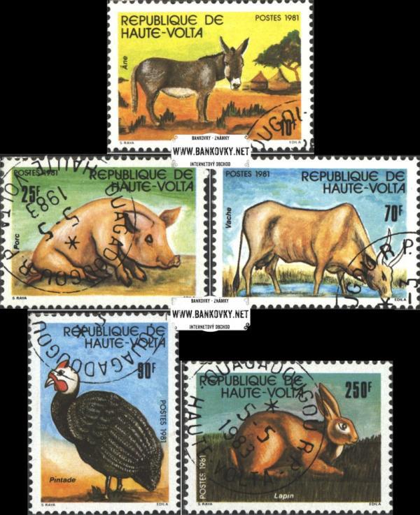 Známky Horná Volta 1981 Domáce zvieratá, razítkovaná séria