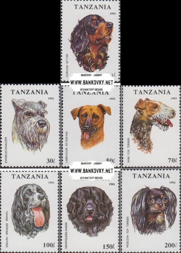 Známky Tanzánia 1993 Psy, MNH nerazítkovaná séria