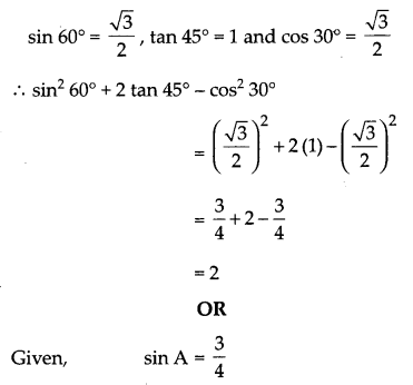 CBSE Previous Year Question Papers Class 10 Maths 2019 (Outside Delhi) Set I Q4