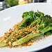 Broccoli with almonds, pink peppercorns and sea buckthorn
