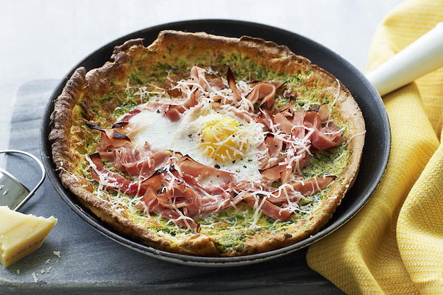 Ham, Egg & Spinach Dutch Baby Pancake