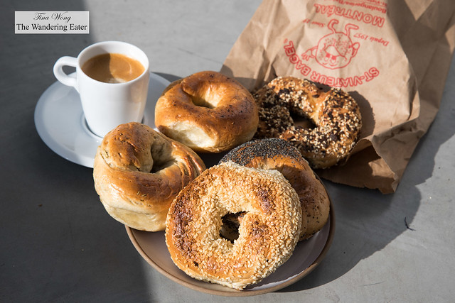 My haul of St Viateur bagels and espresso