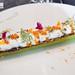 Seared cucumber, la Beurrasse cheese, marinated trout roe, bottarga