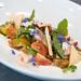 Nordic shrimps, radish, chili, garlic vinaigrette