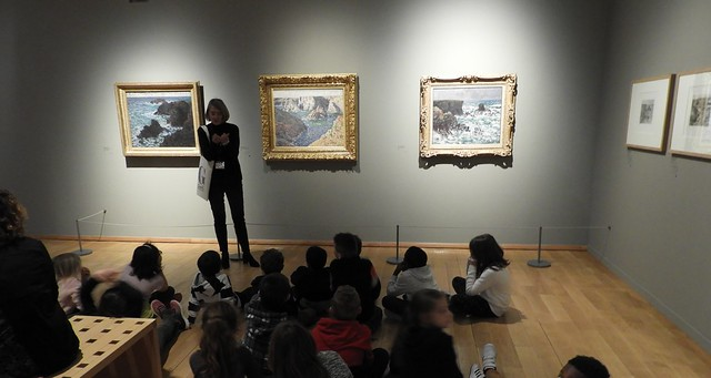 Docent Teaching Students at Musée des Impressionnismes Giverny, France