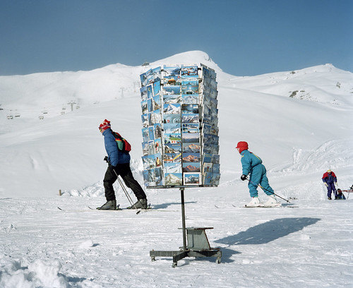 Martin Parr, Kleine Scheidegg, Switzerland, from the Small World series, 1994.  Martin Parr / Magnum Photos.