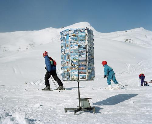 Martin Parr, Kleine Scheidegg, Switzerland, from the Small World series, 1994.  Martin Parr / Magnum Photos.