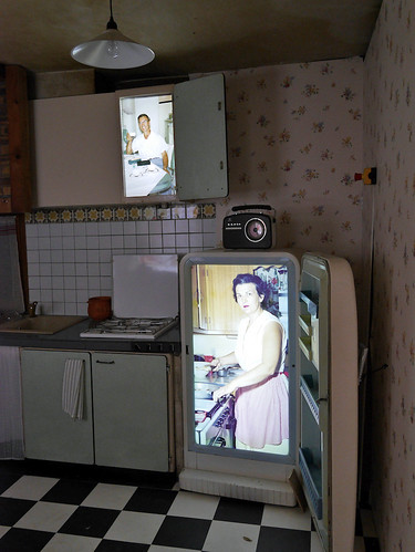 The kitchen at 'Anonymous House Project'. Photograph by Rick Poynor.