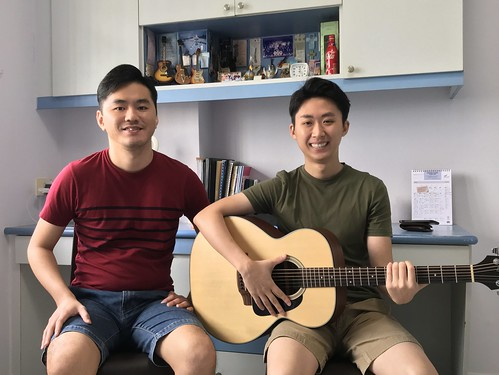1 to 1 guitar lessons Singapore Samuel Low
