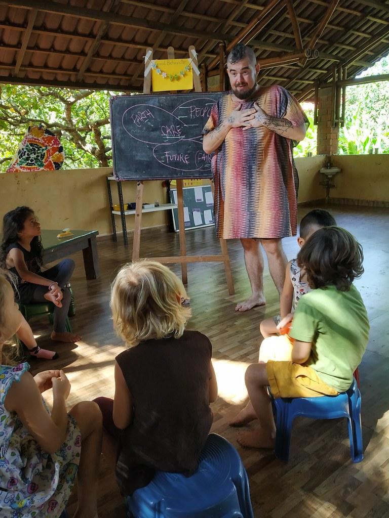Claudiu in a classroom teaching