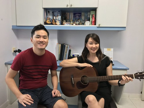1 to 1 guitar lessons Singapore Yu Fen