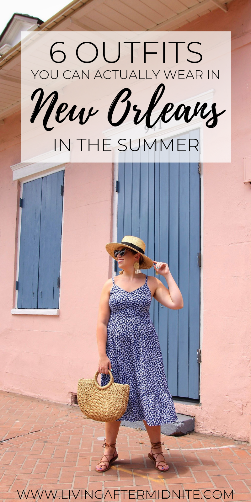 6 Outfits You Can Actually Wear in New Orleans in the Summer | What to Wear in New Orleans in the Summer | New Orleans Packing List | Summer in New Orleans | Best Outfits to Wear in New Orleans | What I Packed for New Orleans