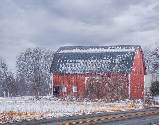 Red Barn on Highway