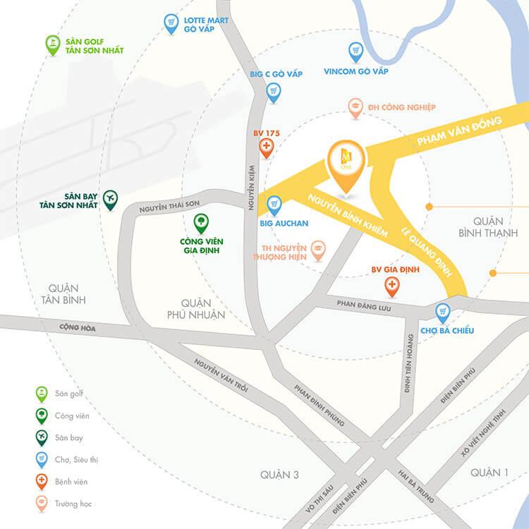 Vị trí dự án M-One Gia Định, Gò Vấp.