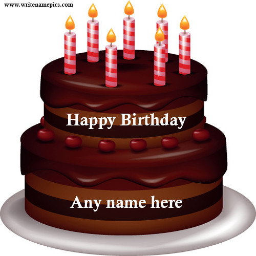 Happy Birthday Cake With Name Edit Online Free A Photo On