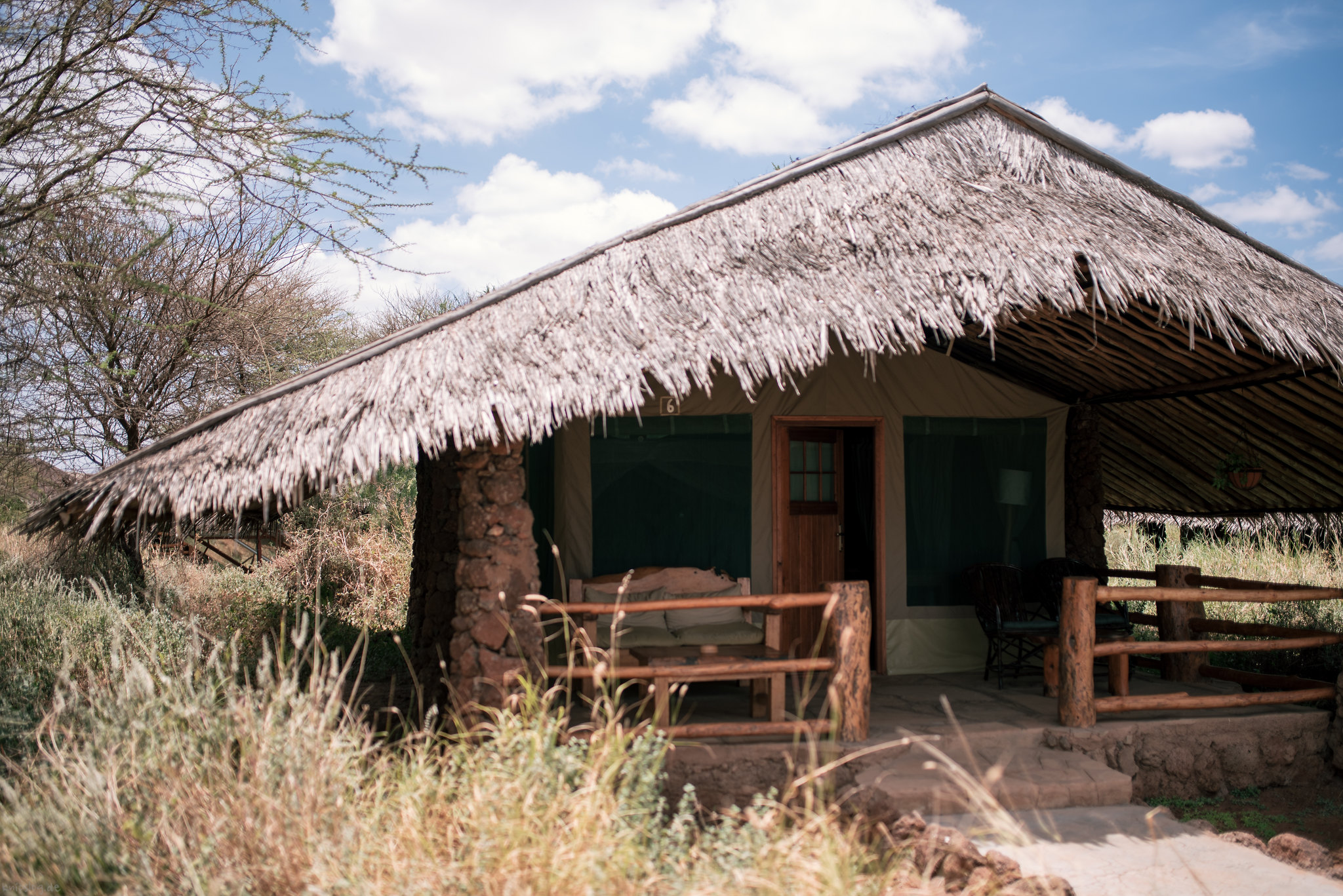 Kibo safari camp at the roof of the Kilimanjaro