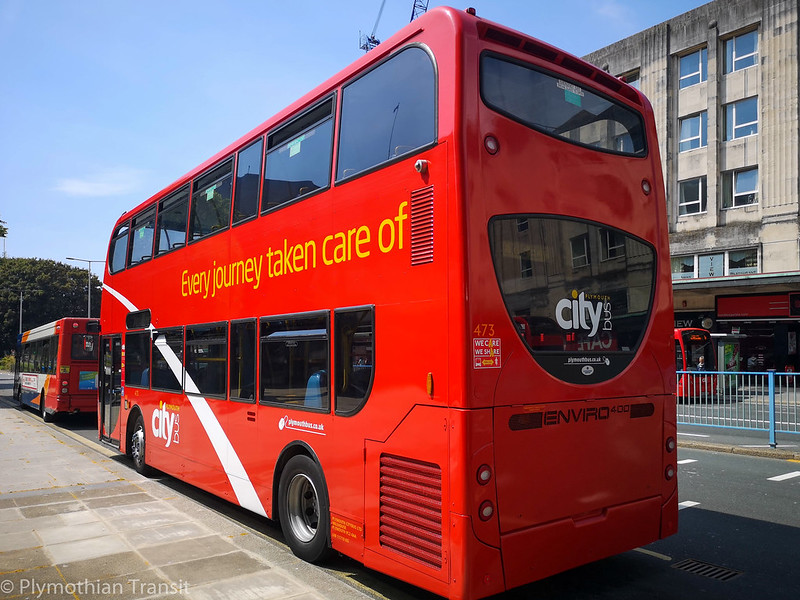 Plymouth Citybus 473 LX06ECT