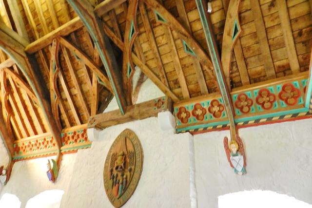 escudo coral interior techo artesonado sala del Coro de los Vicarios Castillo Roca o Rock of Cashel Republica de Irlanda