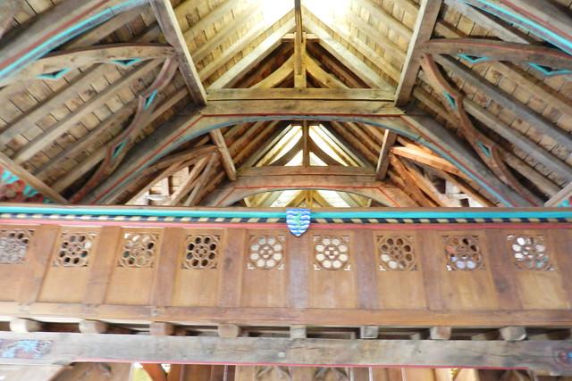 interior techo artesonado sala del Coro de los Vicarios Castillo Roca o Rock of Cashel Republica de Irlanda 04