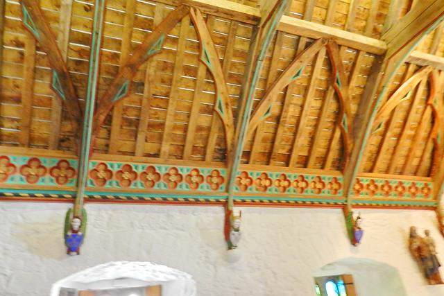 interior techo artesonado sala del Coro de los Vicarios Castillo Roca o Rock of Cashel Republica de Irlanda 01