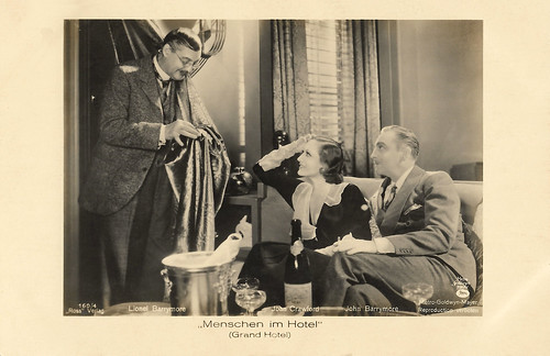 Lionel Barrymore, Joan Crawford and John Barrymore in Grand Hotel (1932)