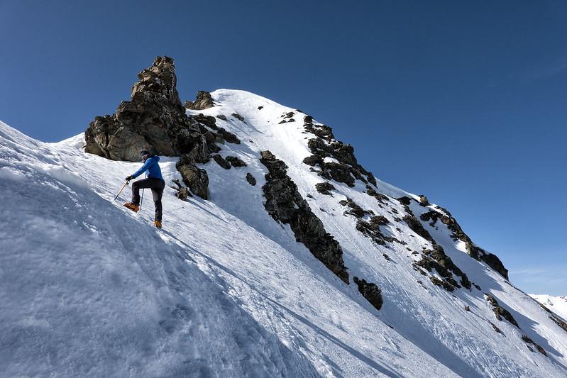 Scialpinismo alla Punta Ormelune: la cresta finale