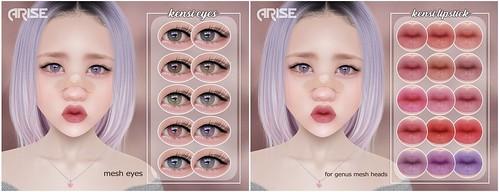 .ARISE. Kensi Lipstick and Eyes