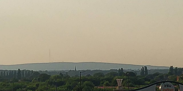 Winter Hill from the Trafford Centre