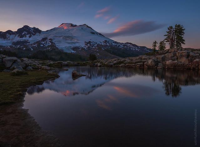 Mount Baker Reflection Sunset Clouds