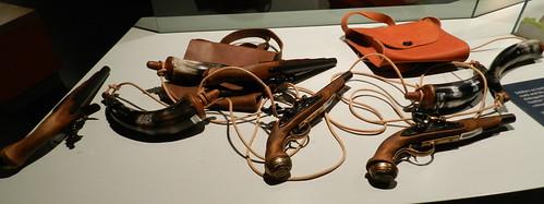 antiguas armas de fuego museo interior Castillo del Rey Juan sin tierra Limerick Republica de Irlanda