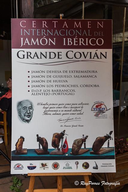 Certamen Internacional del Jamón Ibérico Grande Covian. Gastronómos del Yumay. Aviles, Principado de Asturias, España.