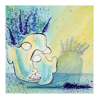 """Contour Self-Portrait 13 - """"Florals On The Brain"""""""