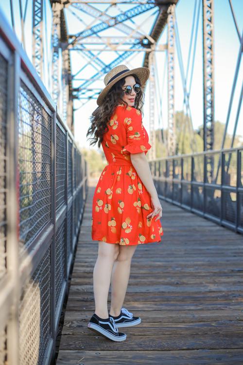 Smak Parlour Media Darling Red Lemon Print Dress