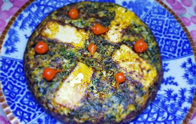 #230719 #jantar #omelete de espinafre #dinner #spinach #omelet