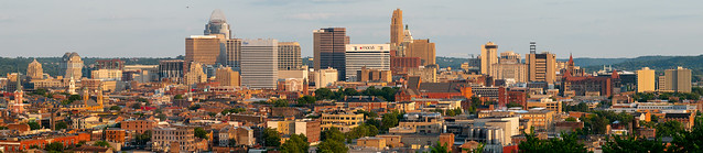 Cincinnati Skyline from Fairview Park