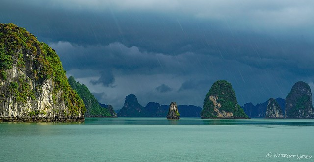 Sun and rain... the monsoon creates perfect light in the Halong Bay, Vietnam