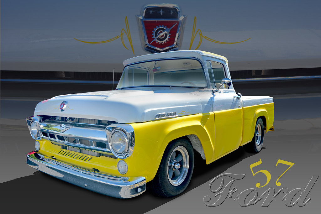 Lemon Meringue 1957 Ford F100 Pickup The Color Of This G Flickr
