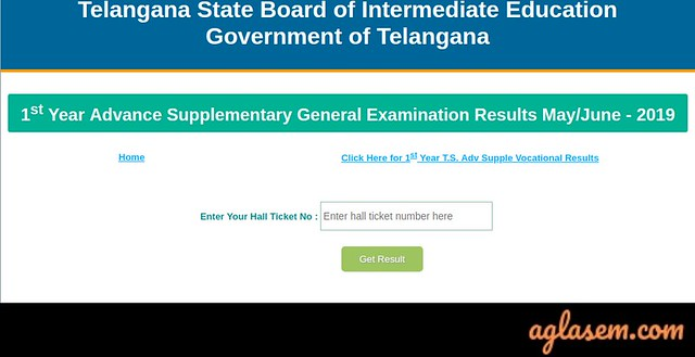 TS Inter Supplementary Result 2019
