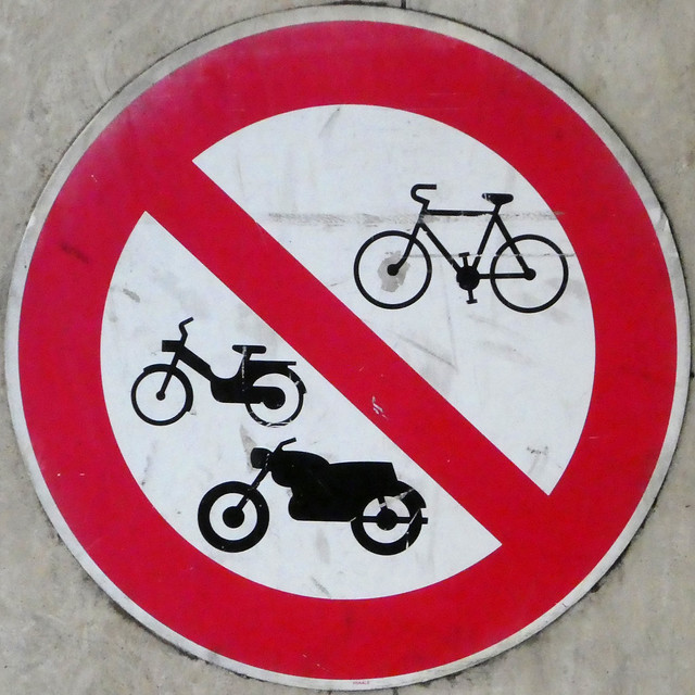 No motorcycles or cycle