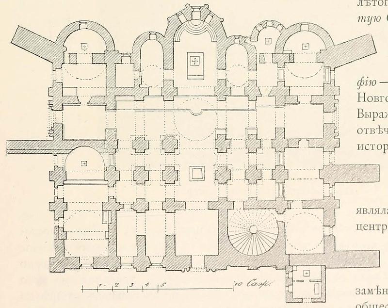 План Святой Софии Новгородской