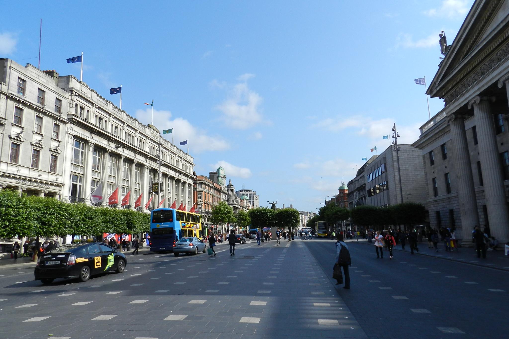 edificio Oficina General de Correos calle O'Connell Street Lower Dublin Republica de Irlanda