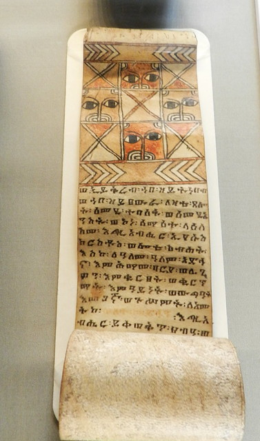 manuscrito libro antiguo exposicion en Gran Sala Biblioteca de Trinity College Dublin Republica de Irlanda 02