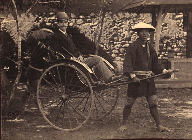 02. 1891. Наследник Цесаревич в г. Нагасаки в коляске-рикше