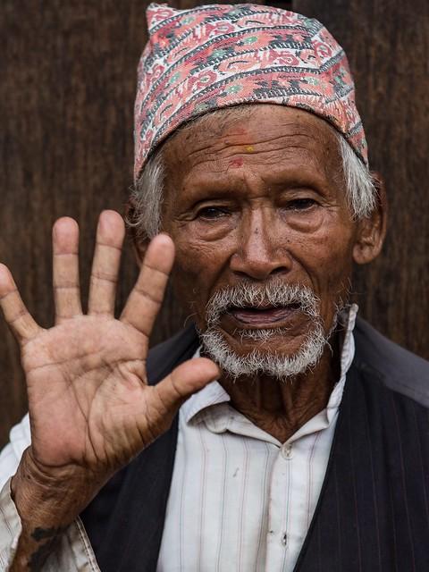 Portrait Of A Venerable Nepalese Gentleman