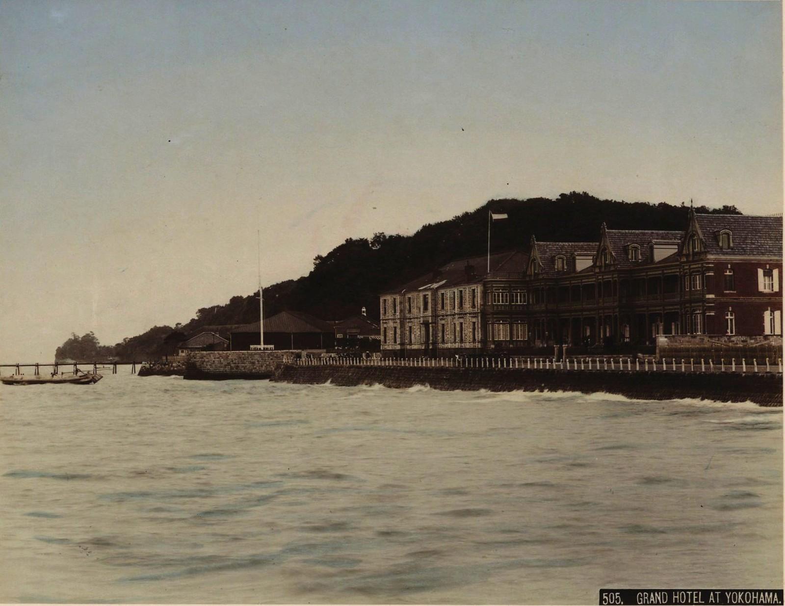 14. 1891. Иокогама. «Гранд-отель», в котором останавливались офицеры эскадры