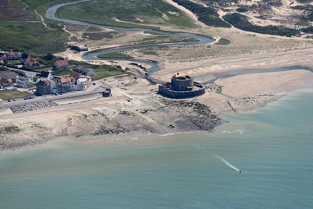 Ambleteuse Fort in France - aerial image