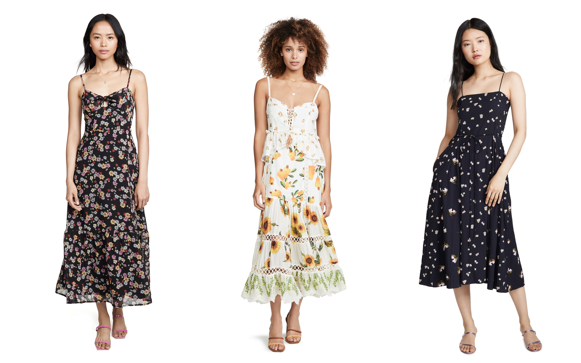 Retro Floral Dresses for Spring